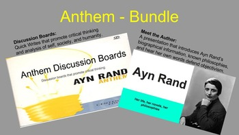 Anthem Bundle: Introducing the Author and Discussion Board Questions
