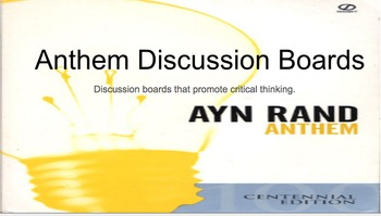 Anthem By Ayn Rand: Discussion Questions