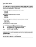 Anthem - Chapters 1-4 Handout / Worksheet