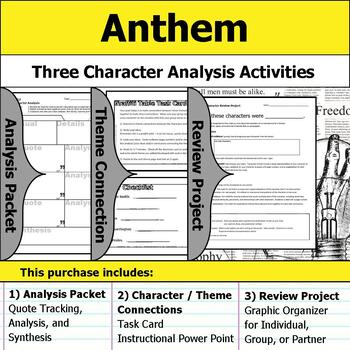 Anthem Character Analysis Packet Theme Connections Project