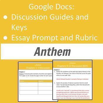 Anthem Discussion and Essay