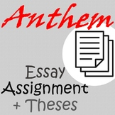 Anthem Essay Assignment + Thesis Prompts