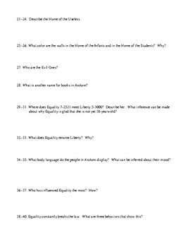 Anthem Essay Prompt and Summative Test