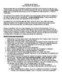 Anthem: Harkness Seminar - Questions