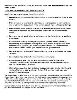 Anthem: Harkness Seminar - Role Descriptions
