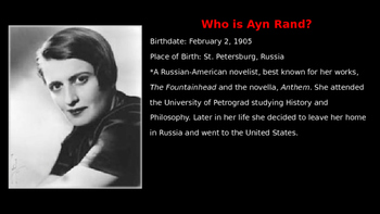 Anthem: Introduction to Ayn Rand's Anthem Powerpointoint