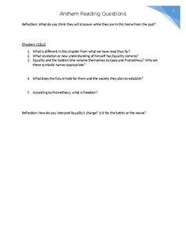 Anthem Reading Questions