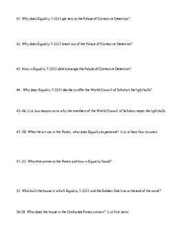 Anthem Test and Comprehensive/Detailed Answer Key
