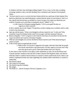 Anthem Unit: Lesson Outlines