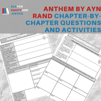 Anthem Ayn Rand Questions Worksheets Teaching Resources TpT