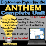 Anthem by Ayn Rand Complete Unit - Digital and Paper Bundle