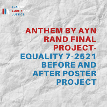 Anthem by Ayn Rand Final Group Project- Equality 7-2521 Before and After Poster
