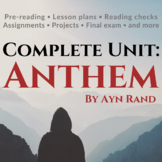 Anthem by Ayn Rand Unit and Teacher Guide