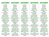 Anthem edition of Bookmarks Plus: Fun Freebie and Handy Reading Aid!
