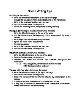 Anthology Scene Writing Tips