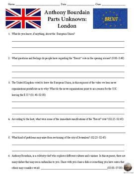 Anthony Bourdain Part Unknown: London/ Brexit