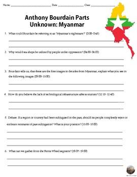 Anthony Bourdain Parts Unknown: Myanmar