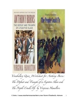 Anthony Burns: The Defeat and Triumph of a Fugitive Slave Vocab Quiz