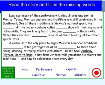 Anthony Reynoso: Born to Rope Vocabulary Cloze
