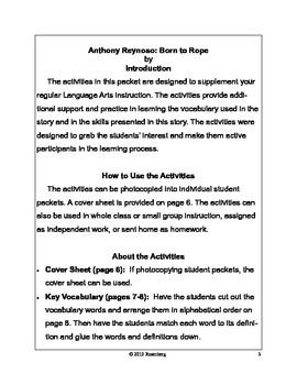 Anthony Reynoso Original Activities and Standardized Test Practice
