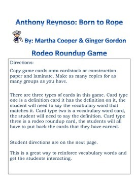 Anthony Reynosos: Born to Rope Rodeo Roundup Game