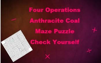 Anthracite Coal Math Operations Maze Self Check