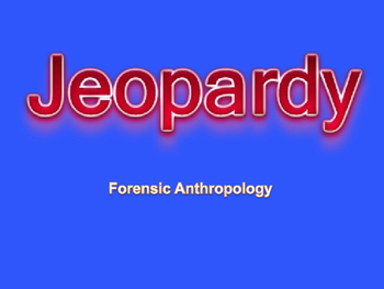 Anthropology Jeopardy Game