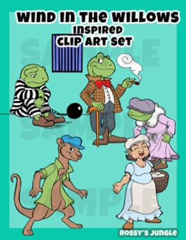 Anthropomorphic characters inspired by Wind in the Willows