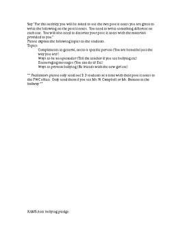 Anti Bulling Pledge and #UPSTNDR