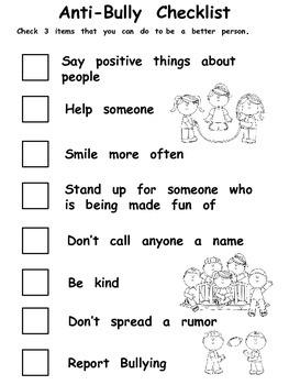 Anti-Bully Checklist