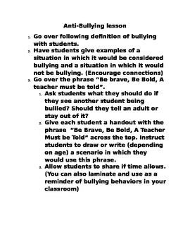 Anti- Bully Lesson