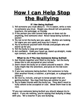 Anti-Bully Tips for the Classroom