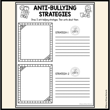 Anti-Bullying Activities with Posters and Coloring Pages