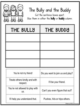 Anti-Bullying Activities  (K-3)