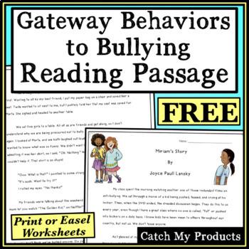 Anti Bullying Activity : Story About Gateway Behaviors