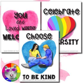 Anti-Bullying Awareness Posters, Pink Shirt Day Posters
