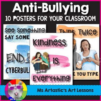 Pink Shirt Day Posters, Anti-Bullying