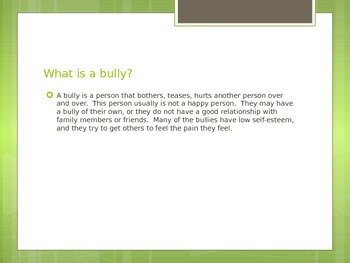 Anti Bullying Lesson Plan. PPT, games.