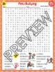 Anti Bullying Bully Crossword Puzzle and Word Search Find Activities