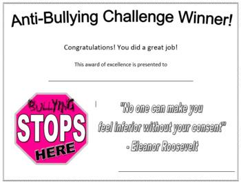 Anti-Bullying Certificate