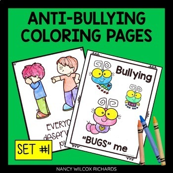 Anti-Bullying Coloring Pages, No Prep