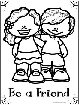 free stop bullying coloring pages | Anti-Bullying Activities Posters with Quotes and Coloring ...