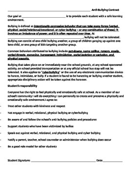 Anti-Bullying Contract