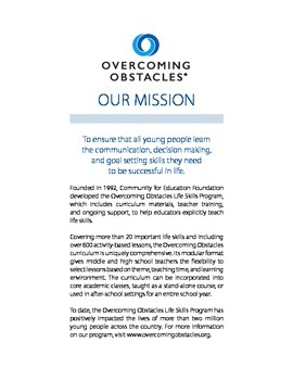 Anti-Bullying Handbook: Free Download @ www.overcomingobstacles.org