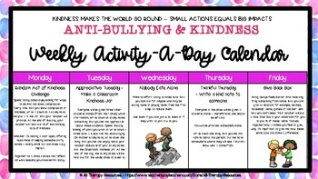 Anti-Bullying & Kindness Activity-a-day Calendar - Anti-Bullying Week Ideas