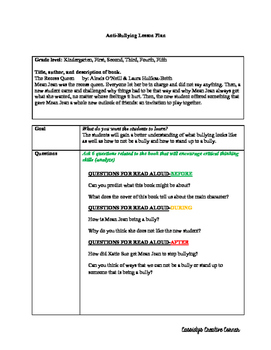 Anti-Bullying Lesson Plan