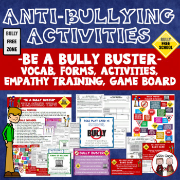 Bullying Unit Including Activities Role Plays Game and Student Contract