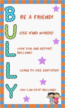 Anti-Bullying Poster FREEBIE