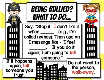 Anti-Bullying Posters - Superhero Theme
