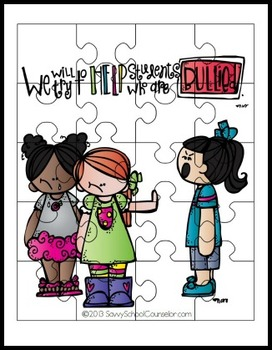 Anti-Bullying Puzzles- Savvy School Counselor